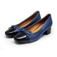 1807 Caratti Leather Heels (with Contrast Toe Cap)