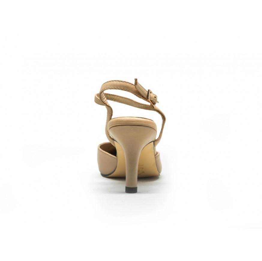 2508 Caratti Classic Leather Heeled Sandals (Mid)