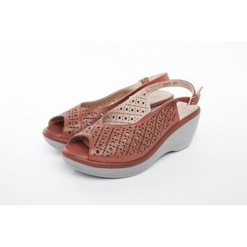 2517 Barani Leather Wedged Sandals (Slingback)
