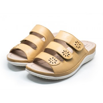2812 Barani Leather Sandals (Slip-On)