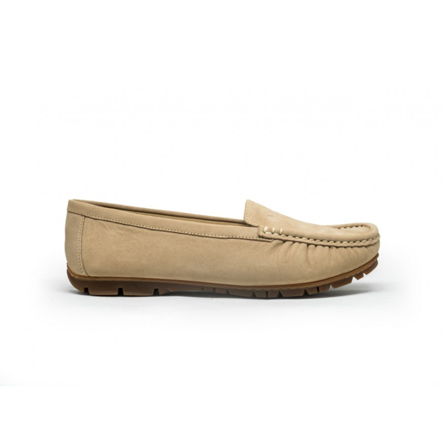 3688 Apache Ladies Leather Moccasins/Slip Ons