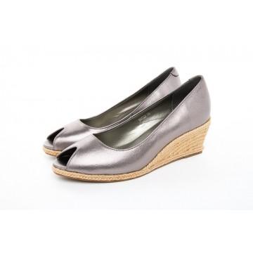 6602A Barani Leather Wedged Heels (Espadrille)