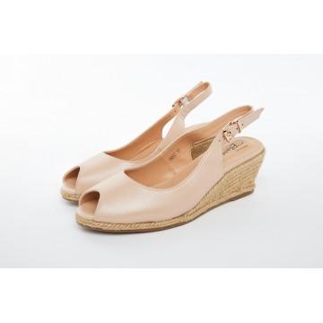 6603 Barani Leather Wedged Sandals (Espadrille)