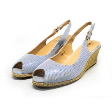 6606 Barani Leather Wedged Sandals (Slingback)