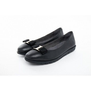 8841-33 Barani Leather Pumps/Ballet Flats (with Fixed Buckle)