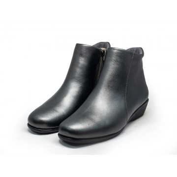 8862-8 Barani Leather Ankle Boots/Booties (Side Zipper)