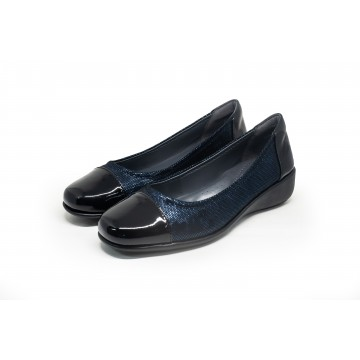 8948-128TX Barani Leather Pumps (with Micro Wedge, Textured Leather)